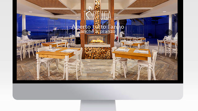 Boma visual – siti internet Tortuga Restaurant e Isola Beach